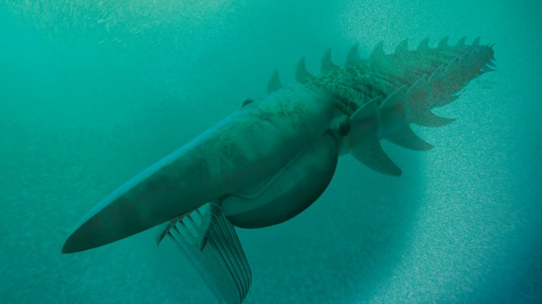 Remains of Giant Armored Sea Creature Discovered in Morocco