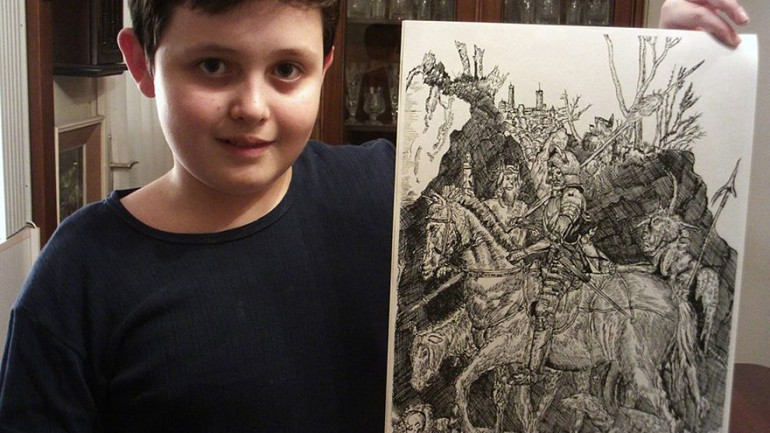 11 YEAR OLD CHILD PRODIGY CREATES STUNNINGLY DETAILED DRAWINGS