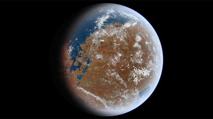 Mars Once Had an Ocean With More Water Than The Arctic