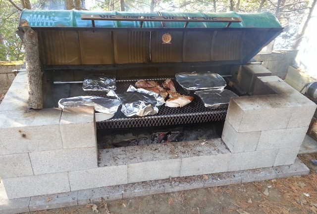 How To Build an Awesome BBQ Rotisserie Pit For Less Than $250