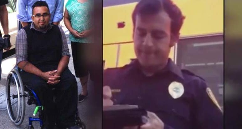 Cop Protects City by Issuing Citation to Man in Wheelchair for Not Having Proof of Disability