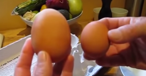 Man Cracks Open A Giant Egg, Something SO Unexpected Falls Out‏
