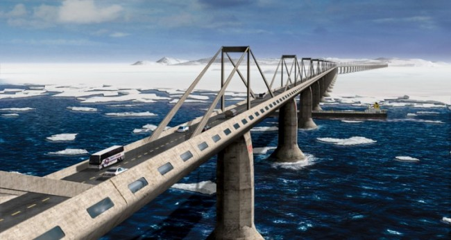 Epic Bridge to Connect America with Russia, So You Can Road trip from NYC to Moscow‏
