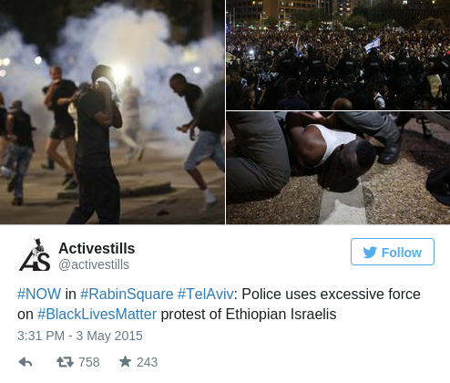 Police Fire Tear Gas During Demo Against Racism, Police Brutality in Tel Aviv