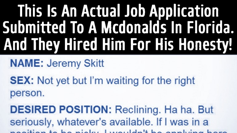 The Greatest Job Application Ever This is Brilliant