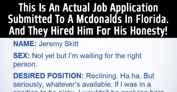The Greatest Job Application Ever. This Is Brilliant