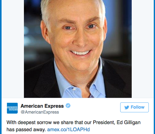 American Express President Found Dead On Plane En Route to NYC