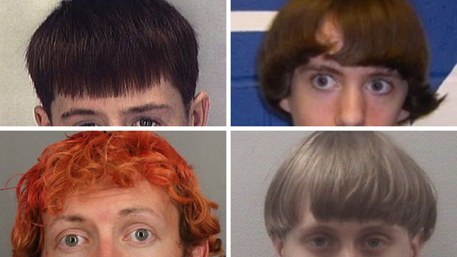Wild Eyes and Bowl Cuts: Why Do Mass Shooters Always Share The Same Hair Styles and Crazed Zombie Stares?