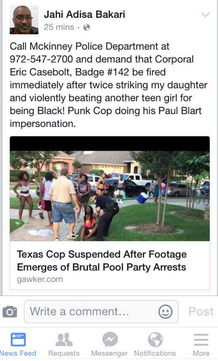 Outrage as Texas cops break up teenage pool party violently force black girl to ground — RT USA