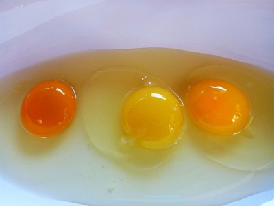 Take A Guess Which Of These Egg Yolks Is Actually From A Healthy Chicken
