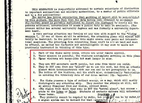 "The FBI Admits Visits of ""Beings From Other Dimensions"" – Declassified FBI Document"