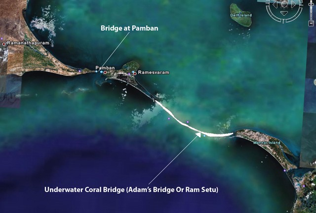 NASA Images Find 1.7 Million Year Old Man-Made Bridge