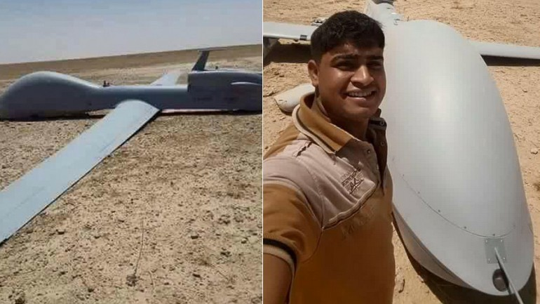 US Drone Crashes in Iraq Desert, Locals Pose For Selfies