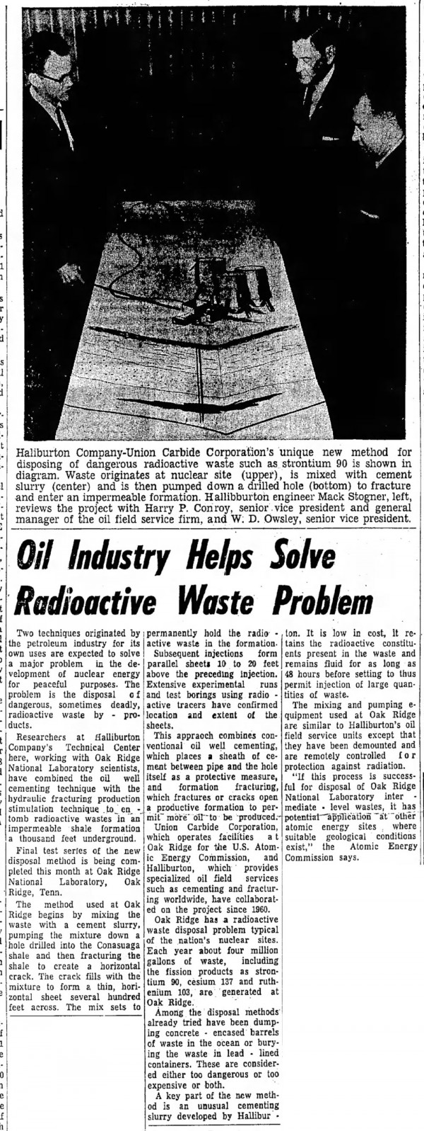Shock-Fracking-Used-to-Inject-Nuclear-Waste-Underground-for-Decades-Great-Bend-Tribune-Sun-Apr-19-1964