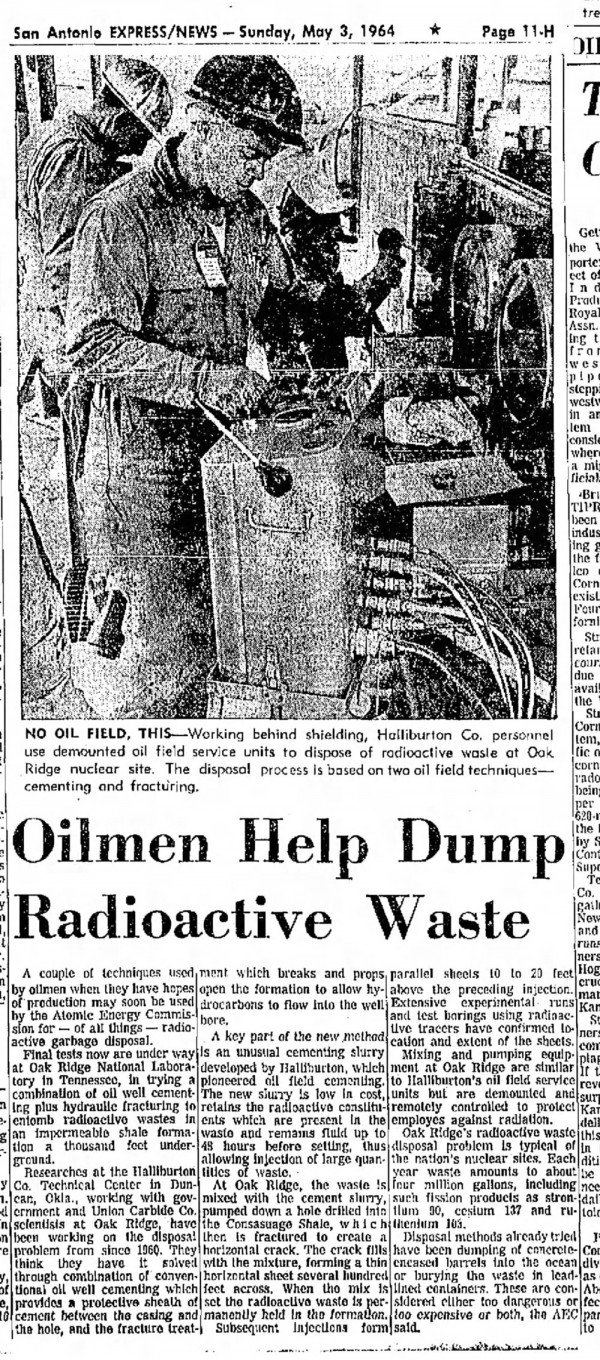 Shock-Fracking-Used-to-Inject-Nuclear-Waste-Underground-for-Decades-May-3-1964-edition-of-the-San-Antonio-Express-News-