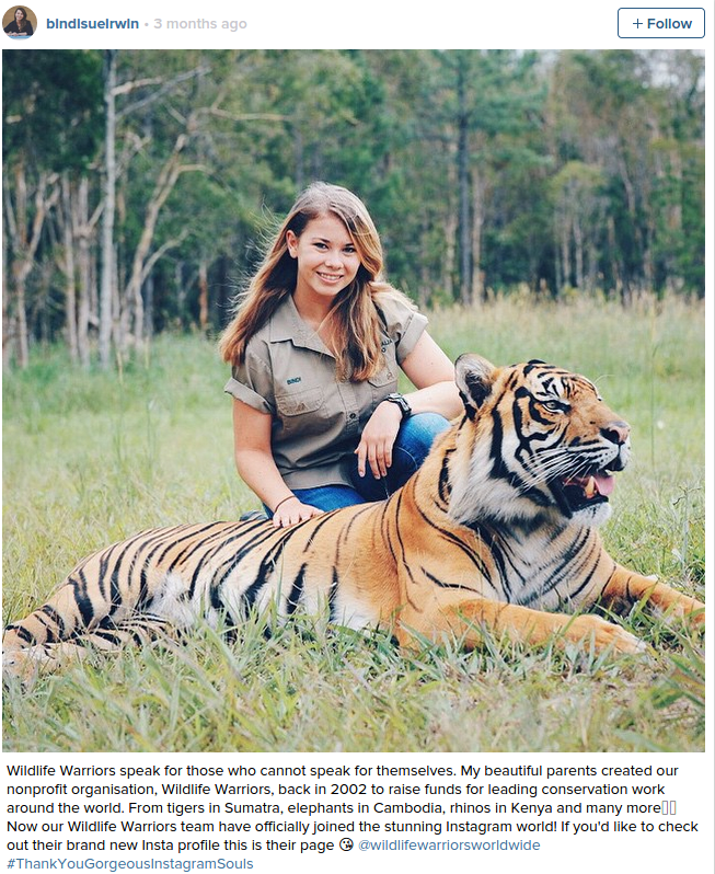Steve Irwin s Daughter Is All Grown Up And Keeping Her Father s Legacy Alive
