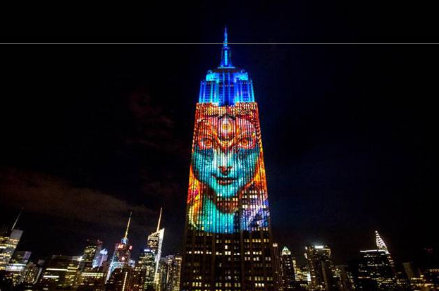 Goddess Kali projected on New York s Empire State Building The Times of India