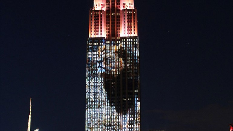 Cecil The Lion And 160 Endangered Animals Projected On Empire State Building