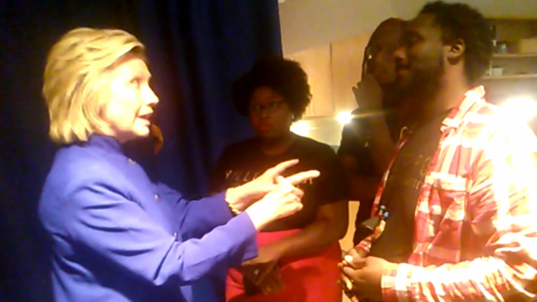Activist Tells Hillary to Her Face That She's Responsible for Mass Incarceration