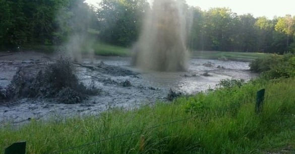 Pond Explodes in Canada While Lakes Disappear in Georgia