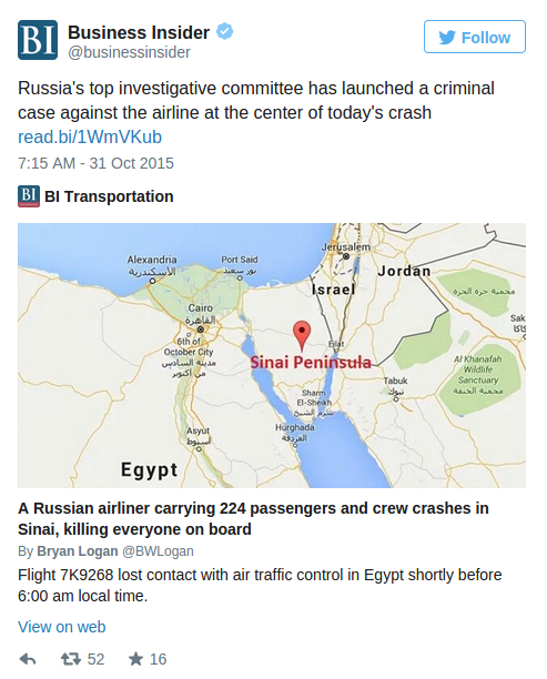 UPDATE ~ Russian Airplane Kolavia Flight 7K9268 %C2%BB-Islamic-State-Claims-to-have-Shot-Down-Russian-Airliner-over-the-Sinai-Alex-Jones-Infowars-There-s-a-war-on-for-your-mind-1