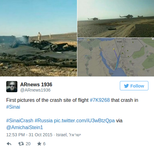 UPDATE ~ Russian Airplane Kolavia Flight 7K9268 %C2%BB-Islamic-State-Claims-to-have-Shot-Down-Russian-Airliner-over-the-Sinai-Alex-Jones-Infowars-There-s-a-war-on-for-your-mind-2