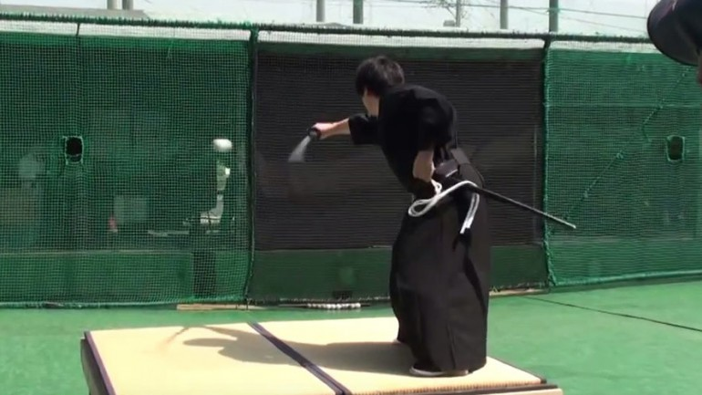 Samurai Slices Baseball Traveling at 100 MPH in Half