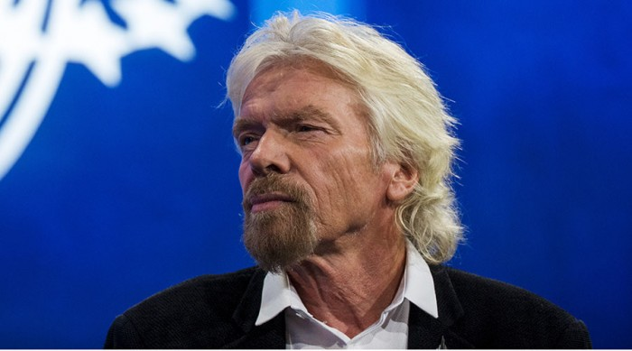 Sir Richard Branson, founder of Virgin Group and Virgin Unite, takes part in a discussion during the Clinton Global Initiative's annual meeting in New York