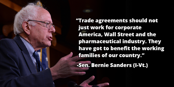 "Bernie Sanders on TPP: I ""Will Do All That I Can to Defeat This Agreement"""