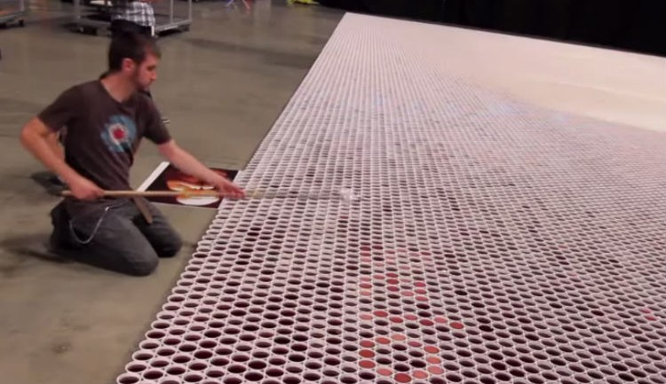THE WORLD'S LARGEST ARTISTIC WATER MOSAIC