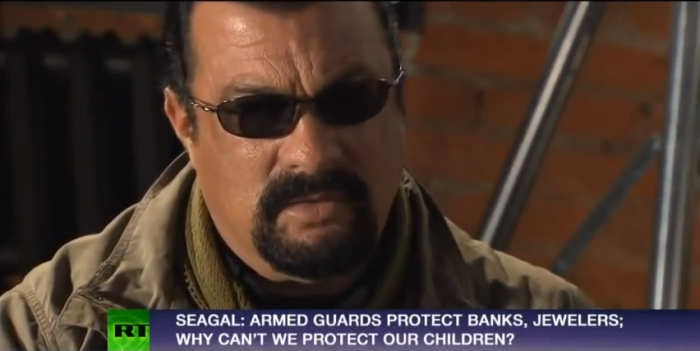 Steven Segal RT News - Gun rights, engineered shooting, protecting our children