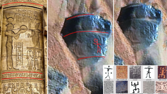 Nasa has discovered ancient petroglyphs and statues on