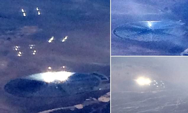 American Airlines Passenger Takes Photos of 'UFO' Giving off Bright Lights and Orbs Near 'Area 51‏'