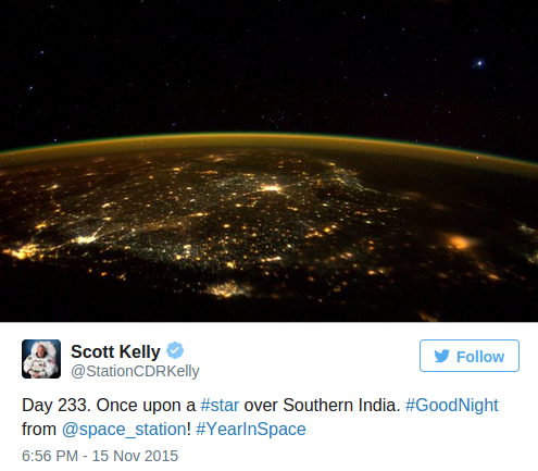Astronaut Scott Kelly Tweets UFO Photo From ISS