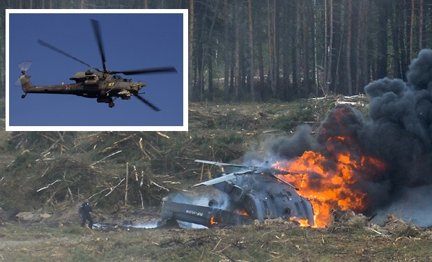 Terrorists Destroy Russian Helicopter Near Su-24 Crash Site