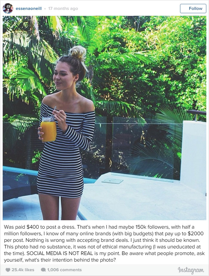 YearOld Model Edits Her Instagram Posts To Reveal The Truth - This 18 year old is revealing the truth behind instagram models