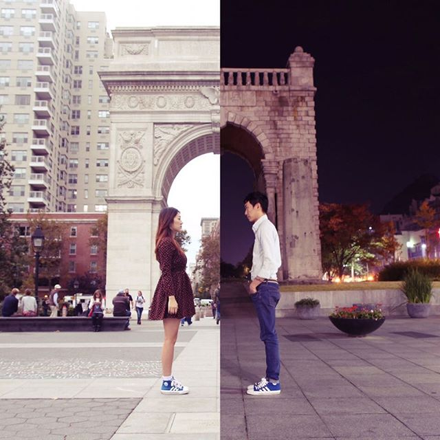 Couple In Long Distance Relationship Connects By Creating Combo Pics