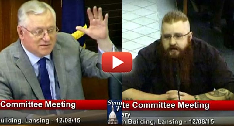 Marine Combat Vet Kicked Out of Senate Meeting for Speaking Too Much Truth