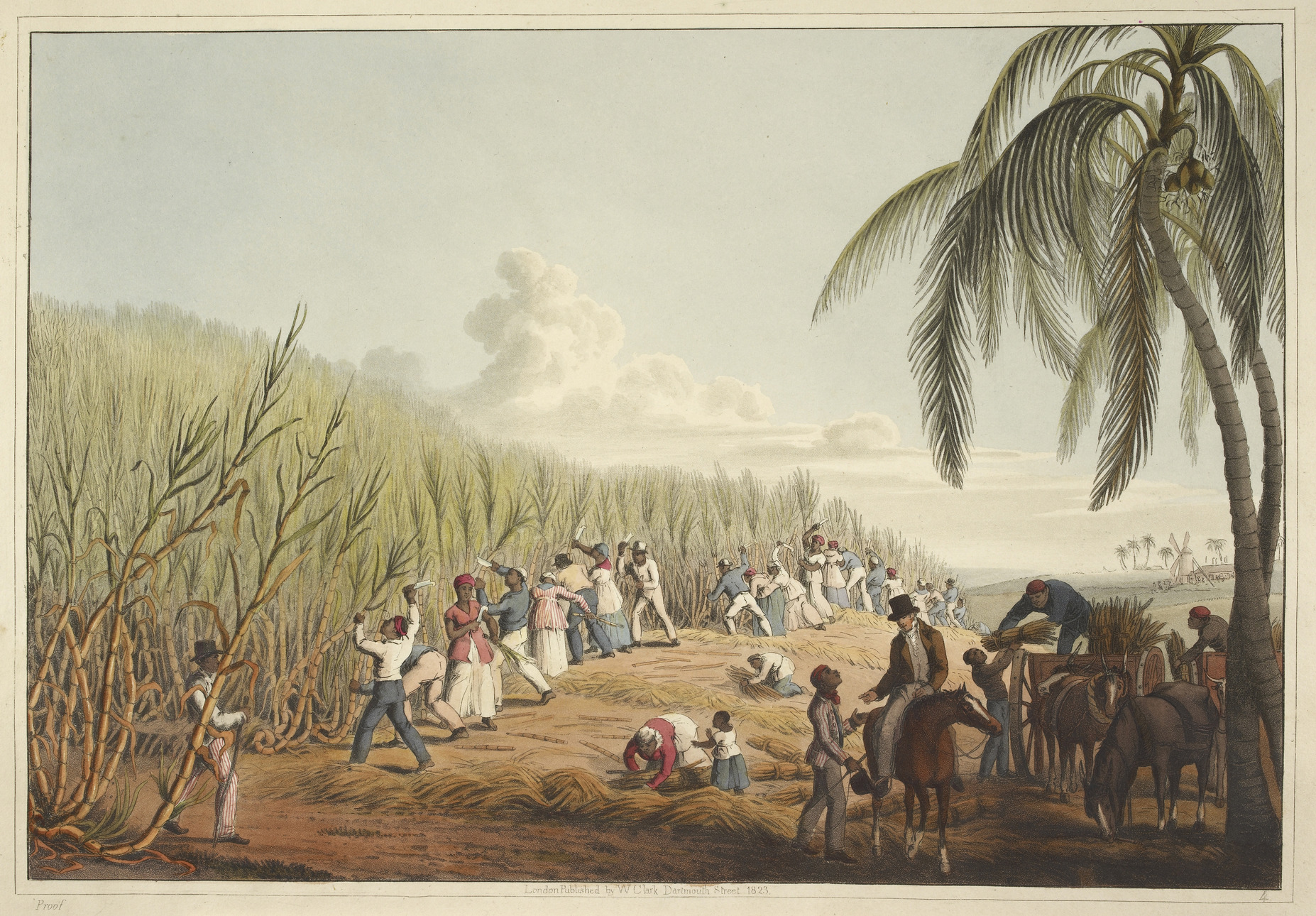 Slaves_cutting_the_sugar_cane_-_Ten_Views_in_the_Island_of_Antigua_1823_plate_IV_-_BL