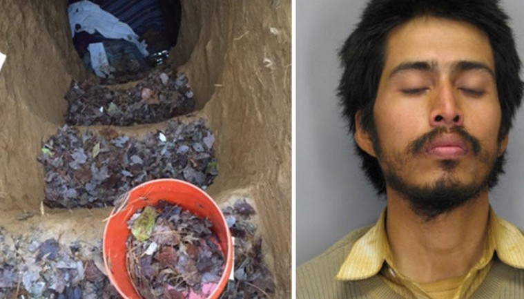 HOMELESS MAN CHARGED WITH DIGGING 15 FOOT DEEP, 2 ROOM CAVE