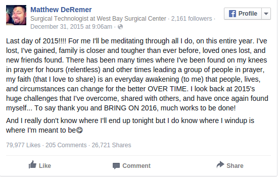 A Man s Hopeful Final Facebook Post Is Going Viral After He Was Killed On New Year s Eve BuzzFeed News