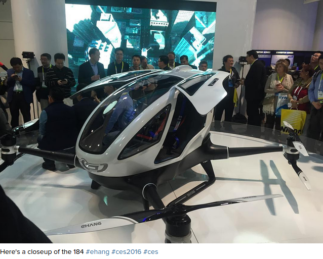 Chinese passenger drone unveiled at CES2016 VIDEO — RT News