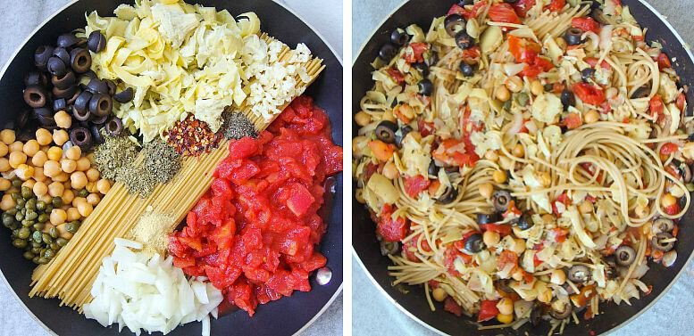 Puttanesca-pasta-before-and-after