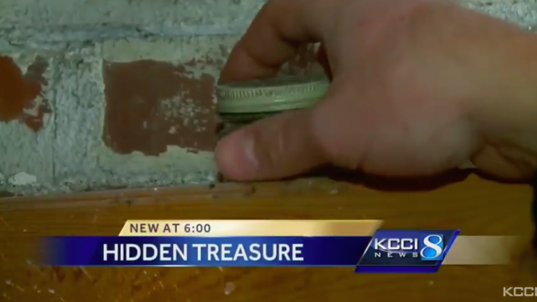 Iowa Couple Discovers Hidden Treasure In Their Home After Tearing Down a Wall