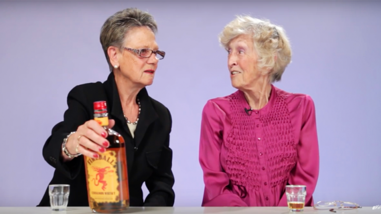 Grandmas Try Fireball Whisky For The First Time Ever. The Results Are Priceless