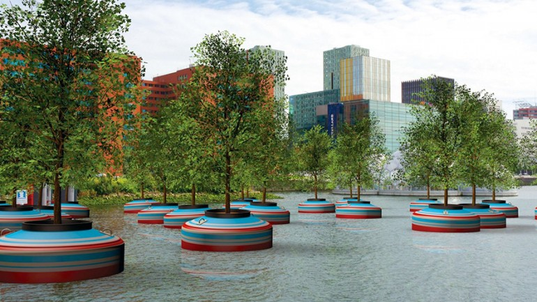 Floating Forest To Be Installed In Rotterdam