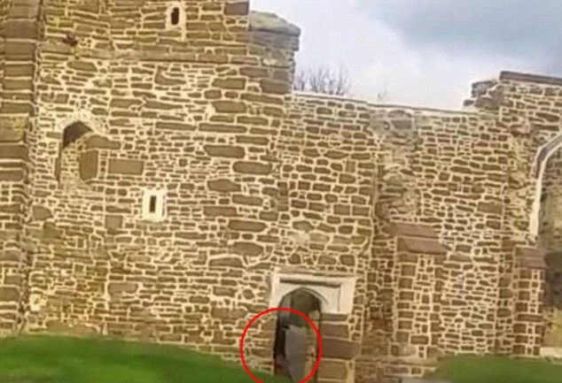 Ghostly Monk Filmed At Old Abandoned Church