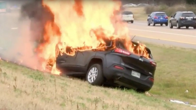 'That's God': Driver, Bible Survive Huge Car Inferno
