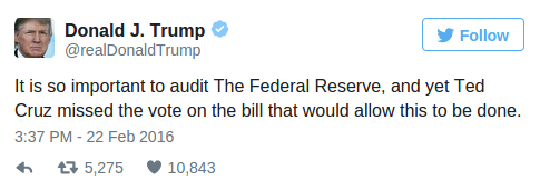 Donald Trump Is Right – Here Are 100 Reasons Why We Need To Audit The Federal Reserve » Alex Jones Infowars There s a war on for your mind