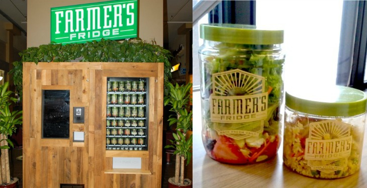 This Vending Machines Serves Only Fresh, Organic Salads And Healthy Snacks